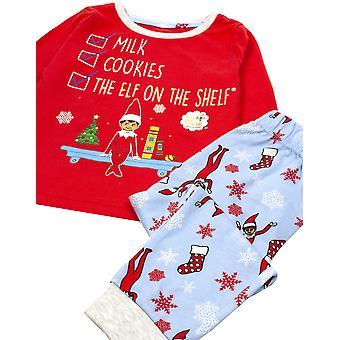 The Elf on the Shelf Childrens/Kids Christmas Long Pyjama Set