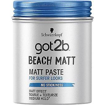 Schwarzkopf Got2b Beach Matt Paste Haar Matt Effekt Texturiser 100ml
