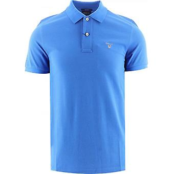 GANT Stark Blå Klassisk Polo Skjorta