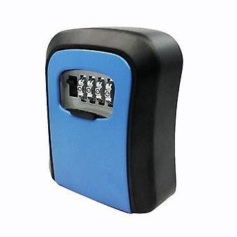 Key Lock Box Seinä asennettu alumiiniseos avain tallelokero säänkestävä 4 numeroa