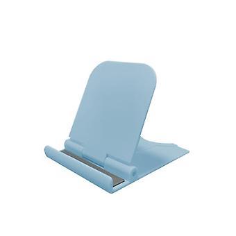 Soporte de plástico plegable universal para teléfono móvil tableta de escritorio (azul)