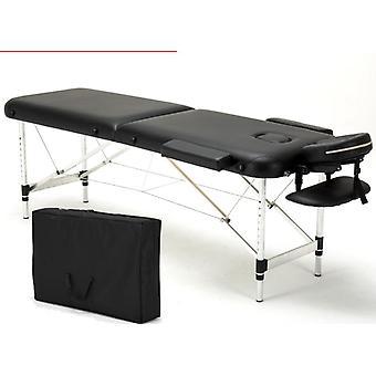 74 «L 2 Fold Portable Massage Table Facial Spa Lit Tatouage Avec Housse de Transport Gratuite