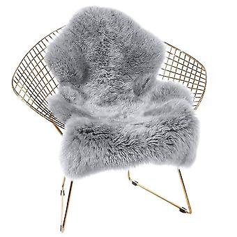 Luxuosa cadeira de pele de ovelha faux macia cobrir assento almofada almofada área de pele de pelúcia