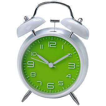 """4 """"Silencioso sin tictac Cuarzo silencioso Analógico Vintage Bedside Twin Bell Despertador (verde)"""