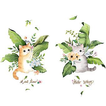 søt 3d katt vegg klistremerke hjem dekal (størrelse: 109cm x 78cm)