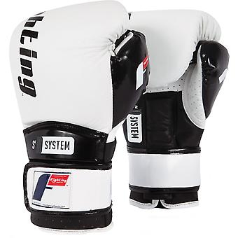 Fighting Sports S2 Gel Boxing Power Sparring Gloves - White/Black