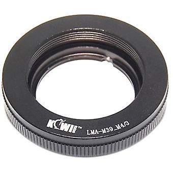 Kiwifotos objektív pripojiť adaptér: umožňuje Leica M39 závit Mount (39mm x1) šošovky, ktoré majú byť použité na každom mikro štyri tretiny systém tela