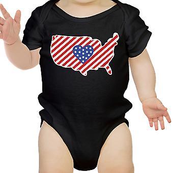 Flaga Amerykańska wzór USA mapę Cute Baby Body Baby Shower