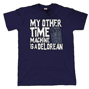 Mijn andere tijdmachine Is een Delorean, Mens grappig Sci-Fi T-Shirt