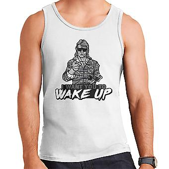 I Want You To Wake Up They Live Men's Vest