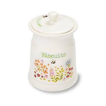 Cooksmart Bee Happy Ceramic Biscuit Canister