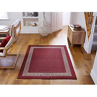 Griekse sleutel Flatweave rode rechthoek tapijten Plain/bijna gewoon tapijten