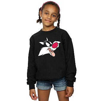 Looney Tunes Girls Sylvester Face Sweatshirt