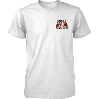 Royal Marines Commando Union Jack Flag - Kids-Brust-Design-T-Shirt