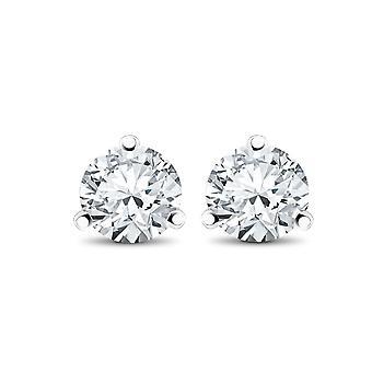1/3 ct TDW Diamond 3-Prong Martni Stollen
