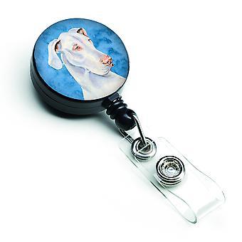 Carolines Treasures  LH9356BUBR Blue Great Dane Retractable Badge Reel
