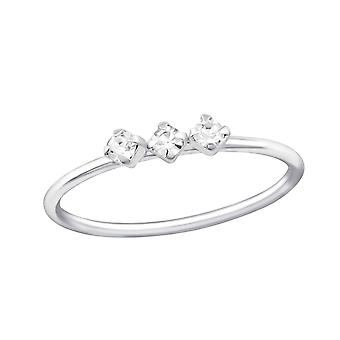 Jeweled - 925 Sterling Silver Jewelled Rings - W32033X