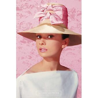 Audrey Hepburn - rosa lue plakatutskrift plakat