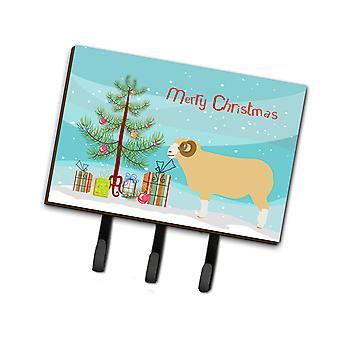 Horned Dorset Sheep Christmas Leash or Key Holder