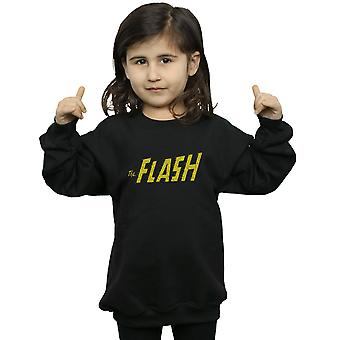 DC Comics Girls Flash Crackle Logo Sweatshirt