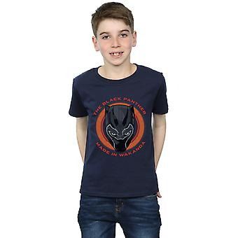 Marvel Boys Black Panther Made in Wakanda Red T-Shirt