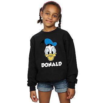 Disney Mädchen Donald Duck Gesicht Sweatshirt