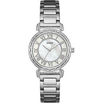 Guess Ladies Watch Silver White W0831L1