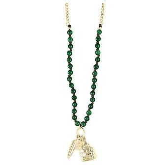 Ettika - Collar necklace Charm's Courage Jade and yellow gold