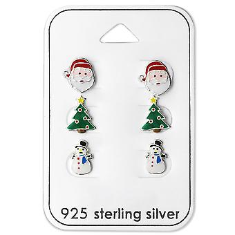 Christmas - 925 Sterling Silver + Epoxy Colour Sets - W28469x