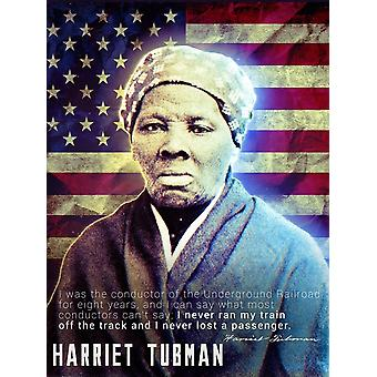 Harriet Tubman Poster Underground Railroad Classroom Quote (18x24)