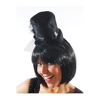 Capelli accessori cappello a cilindro nero cappello burlesque