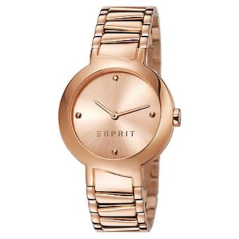 Esprit Damen Uhr Armbanduhr Mona Deco Edelstahl Rosé ES107372002