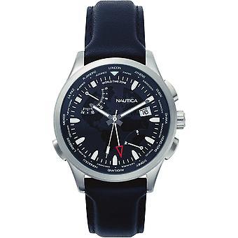 Nautica mens watch NAPSHG001 reloj de pulsera cuero