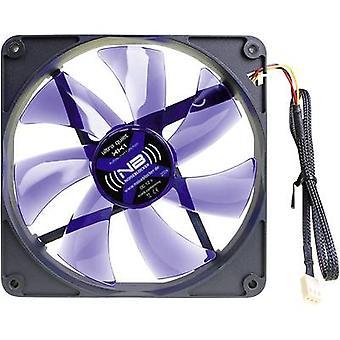 NoiseBlocker BlackSilent XK1 PC fan Black, Blue (transparent) (W x H x D) 140 x 140 x 25 mm