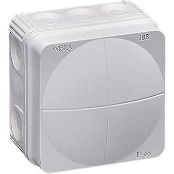 Wiska 10060522 Junction box (L x W x H) 76 x 76 x 51 mm Grey-white (RAL 7035) IP66