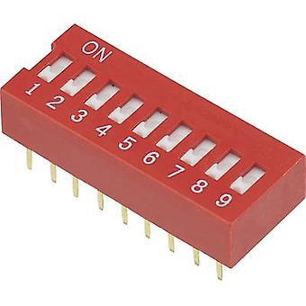 TRU KOMPONENTER DSR-09 DIP-bryter Antall pinner 9 Lysbildetype 1 stk./s)