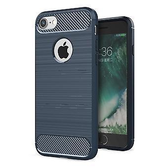 أي فون 7 بالإضافة إلى غطاء TPU قضية سيليكون الغطاء الكربون الوفير المتنقلة نظرة زرقاء