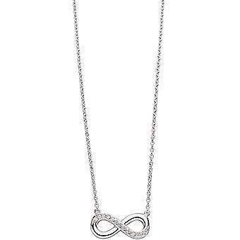 Ketting infinity 925 41 cm ketting met hanger zilver met Zirkonia