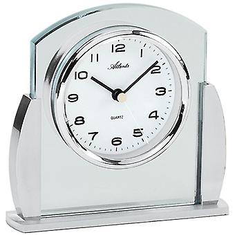 3038/19 style table watch quartz silver modern Atlanta with glass