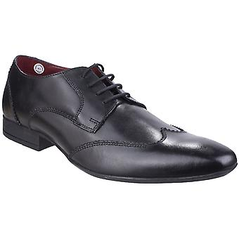Lambretta Mens Bruce Wingtip Smooth Leather Lace-Up Shoes
