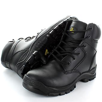 Amblers Steel FS84 Black 6 Eyelet Safety Toe Cap Boot