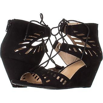 Material Girl Womens Halona Open Toe Casual Strappy Sandals