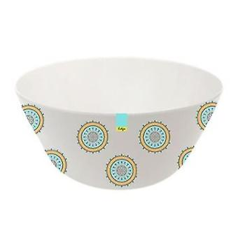 Orange Patterned Melamine Abstract Summer - Bowl 6inch Camping Kitchen