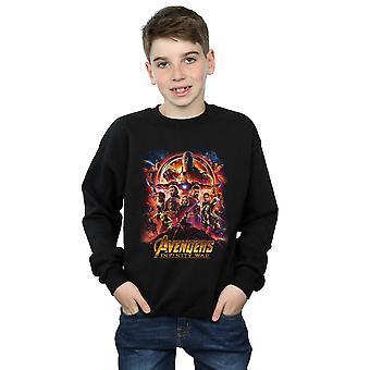 Marvel Boys Avengers Infinity War Movie Poster Sweatshirt