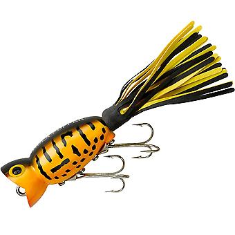 Arbogast Hula Popper 1/4 oz Fishing Lure - Yellow Coach Dog