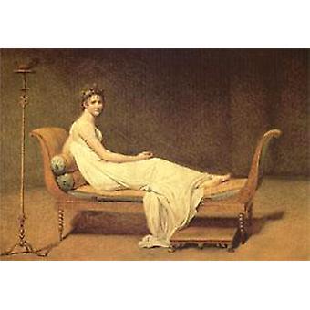 Madame Recamier, Jacques-Louis David, 60x40cm