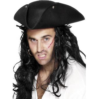 Pirate Tricorn Hat.  One Size