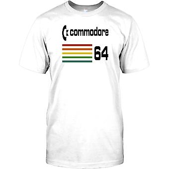 Commodore 64 - Klassiker der 80er Jahre Heimcomputer-Herren-T-Shirt