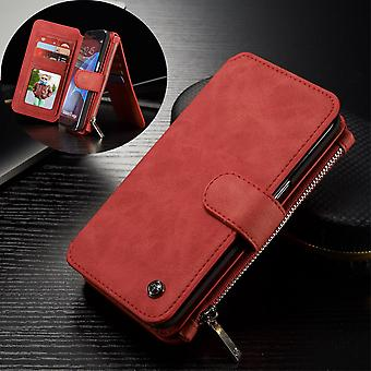 CASEME Samsung Galaxy S7 Edge Retro leather wallet Case Red