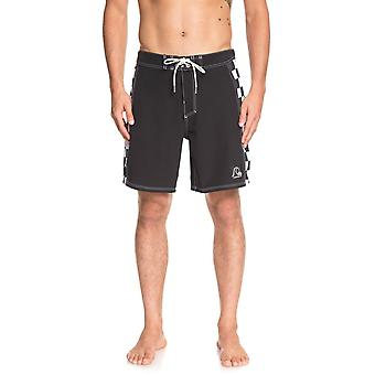 Quiksilver Highline Checker Arch 18 Technical Boardshorts in Black